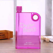 Load image into Gallery viewer, Pink transparent Square Water bottle- Laviemate