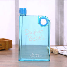Load image into Gallery viewer, Blue transparent Flat Water bottle- Laviemate