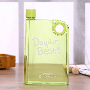 Yellow transparent Rectangle Water bottle- Laviemate