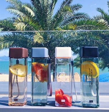 Luxurious Square Fruit Water Bottle-LaViemate