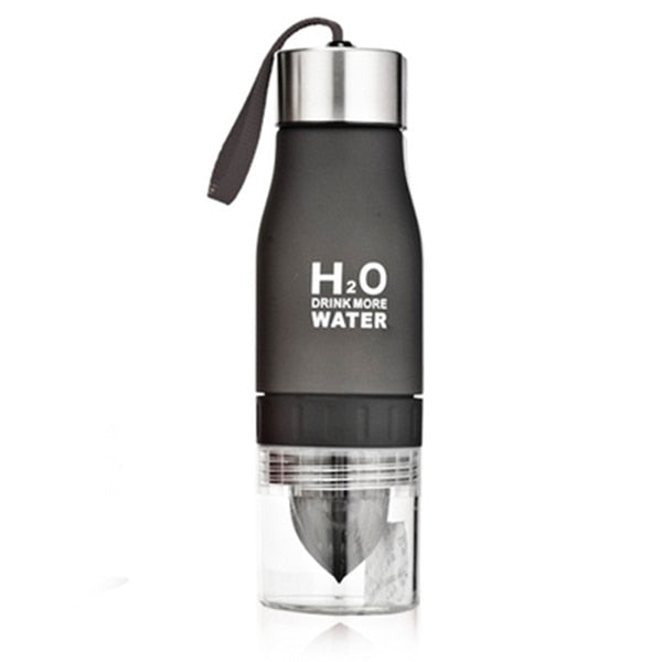 Black Fruit Infuser Water Bottle-Laviemate