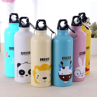 Animal carton aluminum water bottles - LaViemate