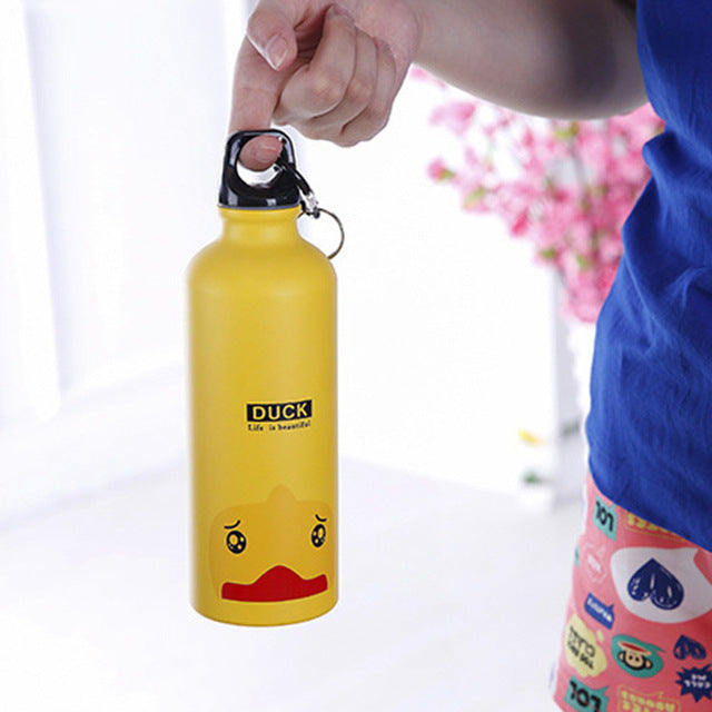 Yellow aluminum water bottles - LaViemate