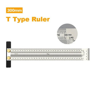 300 mm t rule for carpenter and woodworker - LaViemate