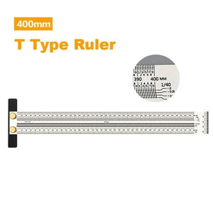 400 mmT-square ruler for scribing and woodworkers - LaViemate