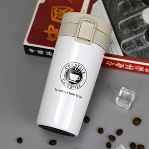 12 oz stainless steel travel coffee thermos - LaViemate
