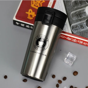 Silver ( gray) 12 oz stainless steel travel coffee and tea mug - LaViemate