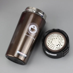 12 oz stainless steel travel thermal cup- LaViemate