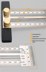 High precision t-rule for measuring and marking - LaViemate