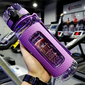 Purple workout water bottle - LaViemate