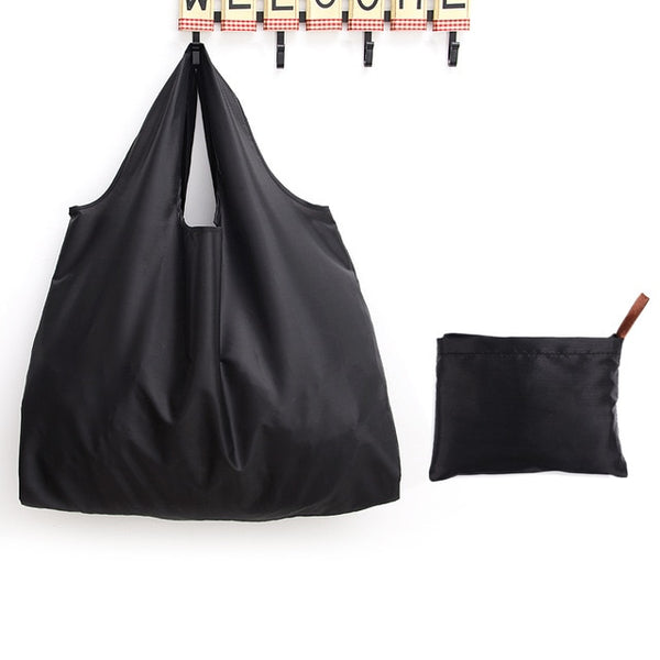 Big Size Thick Nylon Large Tote ECO Reusable Polyester Portable Shoulder Women's Handbags Folding Pouch Shopping Bag Foldable,Casual ECO shopping bag, reusable, Tote bag, Fold bag, Green shopping bag, handbag, shoulder bags - LaViemate