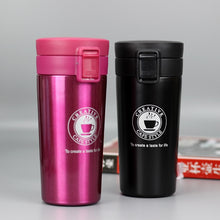 Load image into Gallery viewer, 12 oz stainless steel travel pink coffee mug - LaViemate