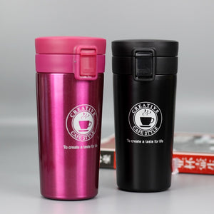 12 oz stainless steel travel pink coffee mug - LaViemate