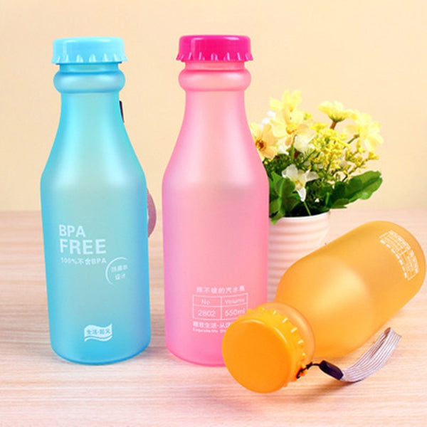 Candy Color Plastic Water Bottle  - LaViemate
