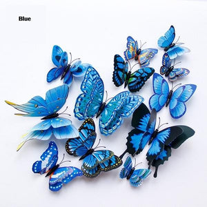 blue butterfly wall stickers - Laviemate