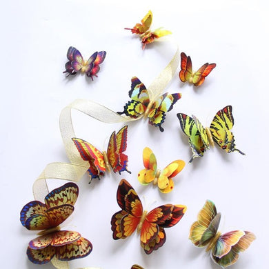 12 Pieces 3D Butterfly Wall Stickers Art Decor Decals - LavIemate