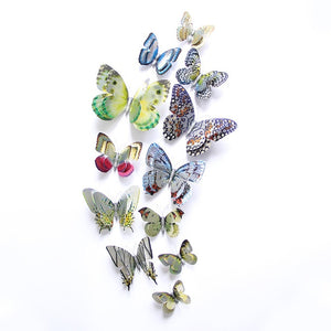 silver butterfly stickers - Laviemate