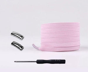 Pink Fashionable Magnetic Shoelaces (Pair)-LaViemate