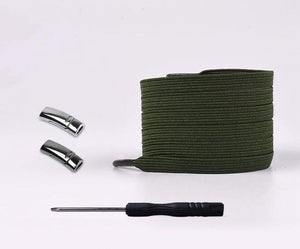 Army Green Fashionable Magnetic Shoelaces (Pair)-LaViemate