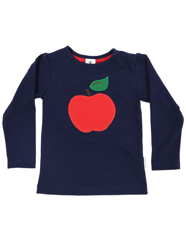 Cheeky Apple Top (Blue and Red)