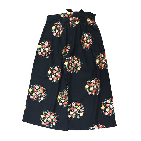 Pantalon Highwaisted Negro con flores