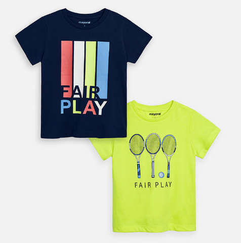"Set 2 camisetas ""fair play"""