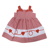 Seesucker red heart dress