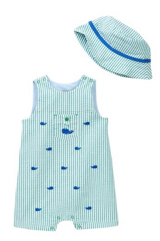 Whale Sunsuit & Hat