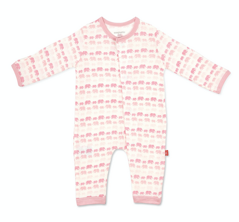 Pink Dancing Elephants Coverall