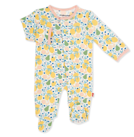 Citrus bloom modal magnetic footie/coverall