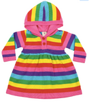 Rainbow Knitted Hooded Dress
