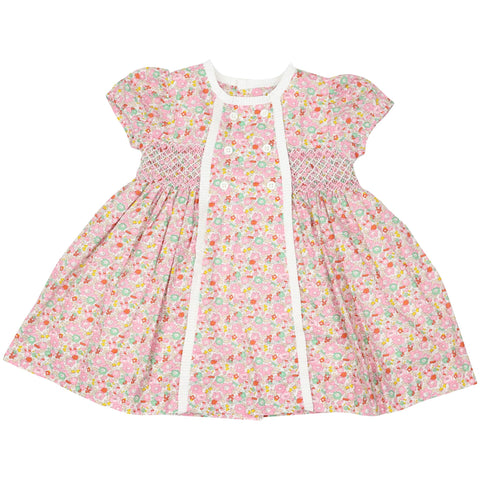 Classic Floral Smocked Dress