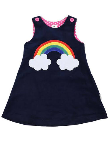 Winter Rainbow Cord Dress