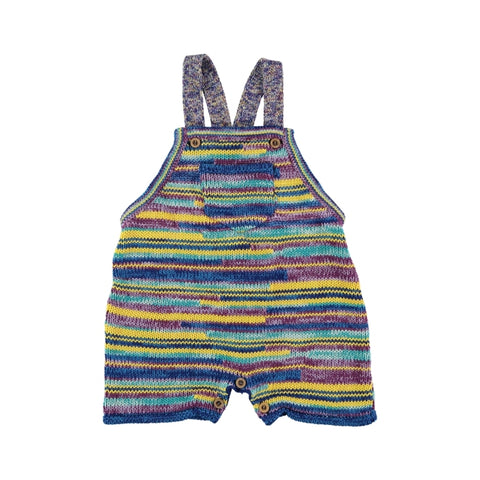 Multicolor knit overall