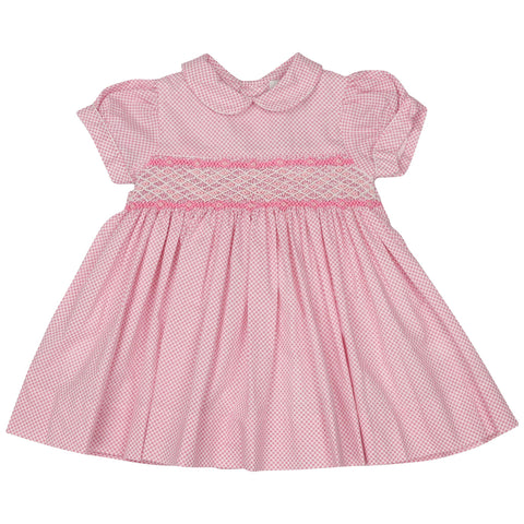 Pink Summer Style Smocked Dress
