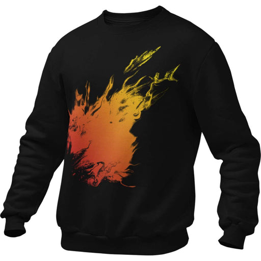 Orange Flame Men's Sweatshirt
