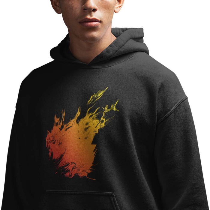 Orange Flame Men's Hoodie
