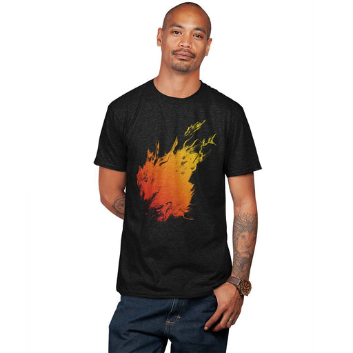 Orange Flame Men's Premium T-Shirt