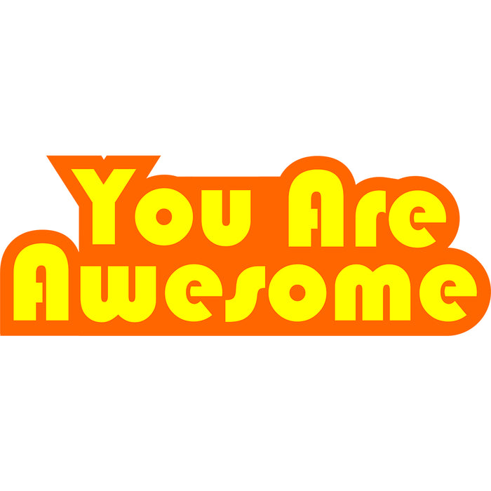 You Are Awesome Orange Edition Men's 3/4 Sleeve Shirt
