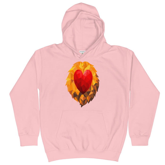 Heart of a Lion Kid's Hoodie