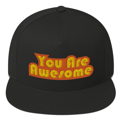 You Are Awesome Orange Edition Flat Bill Hat
