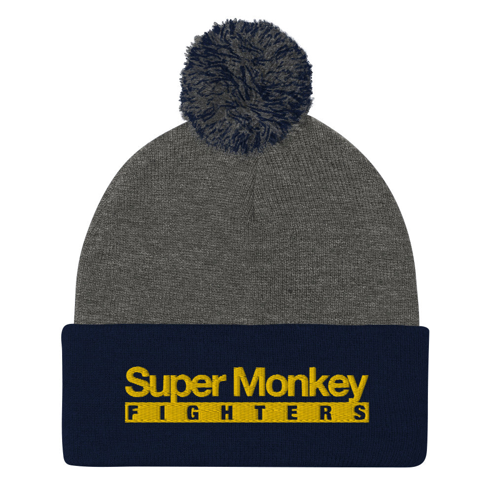 Yellow Monkey Pom Pom Beanie