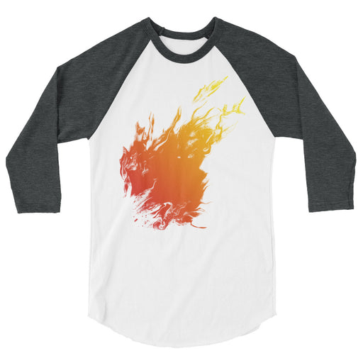 Orange Flame Men's 3/4 Sleeve Shirt