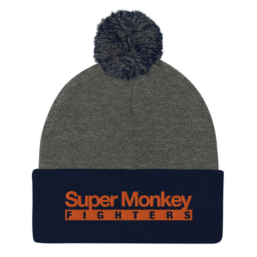 Orange Monkey Pom Pom Beanie