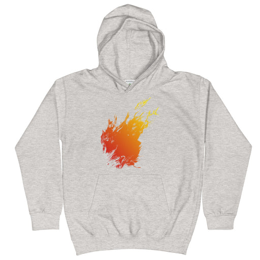 Orange Flame Kid's Hoodie
