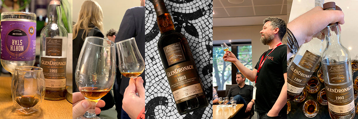 Tastings showing the Glendronach 1993 26 year old