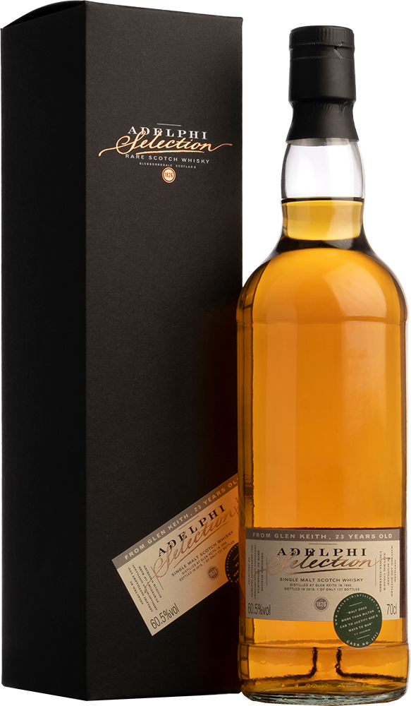 Adelphi 1995 Glen Keith Single Cask #8512 Bourbon Cask 23 Year Old Single Malt Scotch Whisky