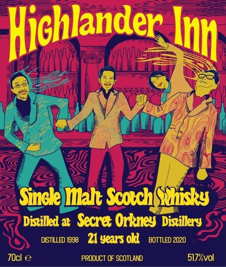 The Highlander Inn Japan 1998 Secret Orkney 21 Year Old Single Cask Single Malt Scotch Whisky