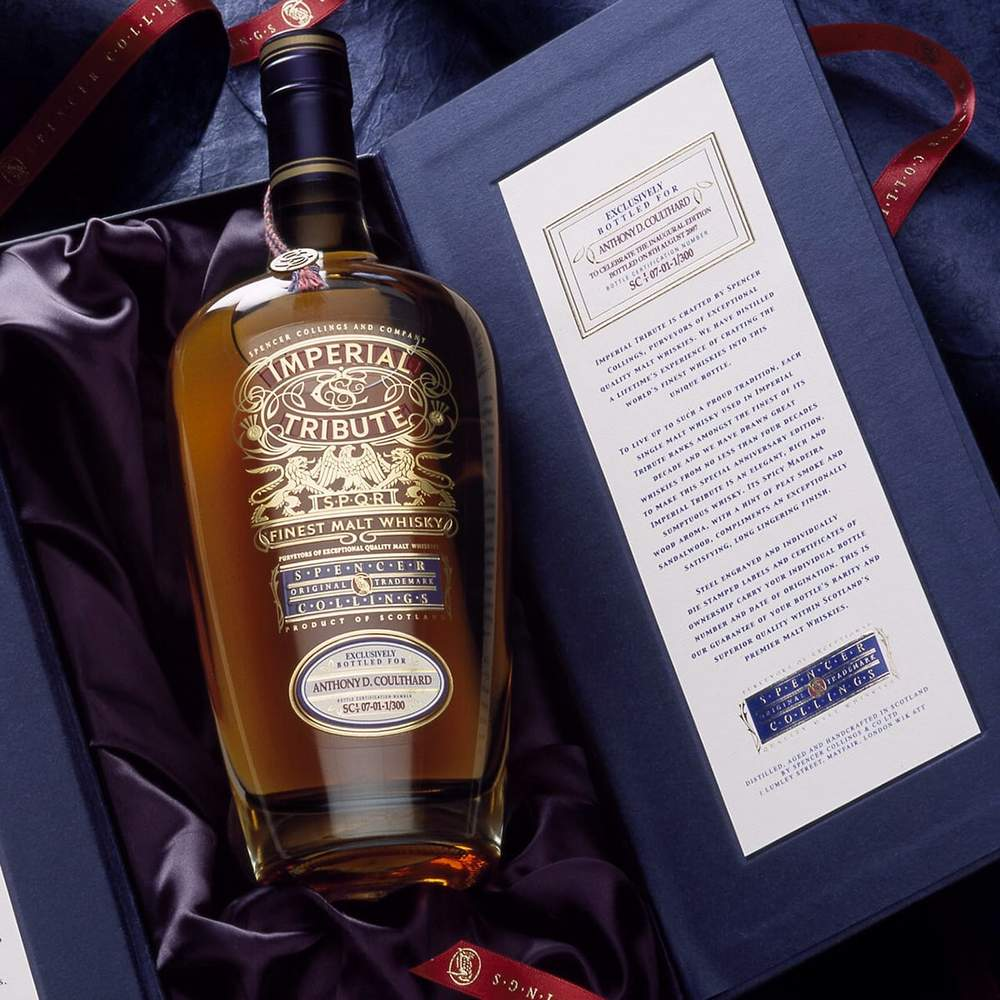 Spencer Collings Imperial Tribute Personalised Whisky Gift