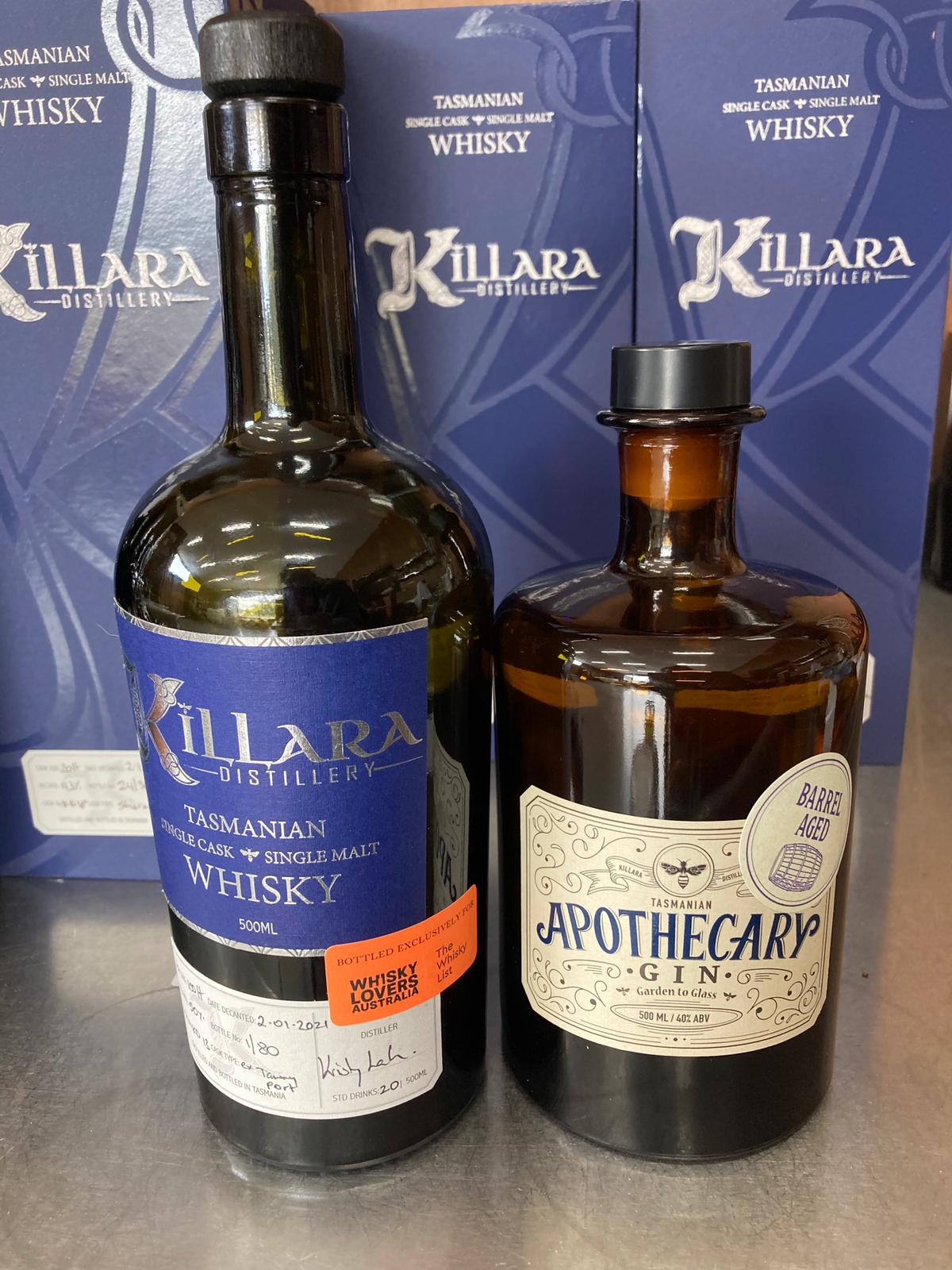 Killara Barrel Aged Gin For The Whisky List (500ml)